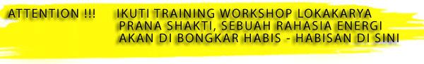 Workshop Prana Shakti Dharana Dhyana Surabaya