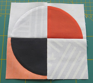 Luna Lovequilts - Orange Pop - Piecing detail