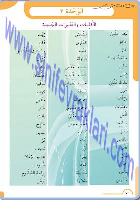 8. Sınıf Arapça Meb Yayınları Ders Kitabı Cevapları Sayfa 70