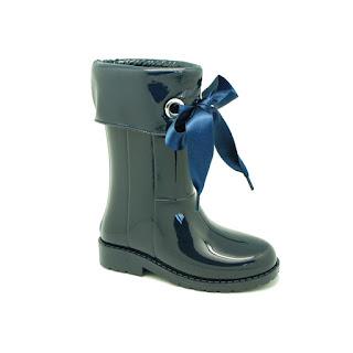 botas de agua azul para uniforme okaa - la comunion de noa