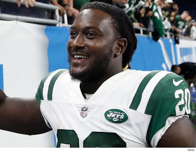 JETS RB ISAIAH CROWELL Hey Cleveland ... TELL ME HOW MY A** TASTES!!!