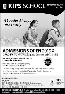 KIPS Academy  Lahore Admissions Are open