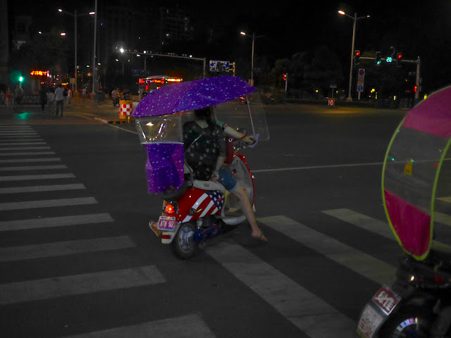 American flag themed motor scooter in Bengbu