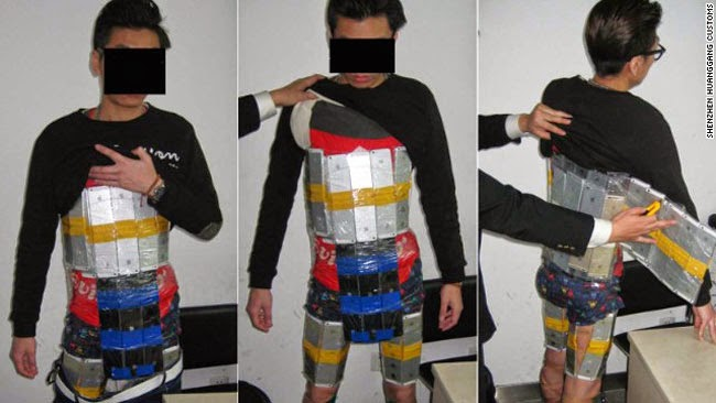 Man Caught Trying to Smuggle 94 Iphones Taped All Over His Body