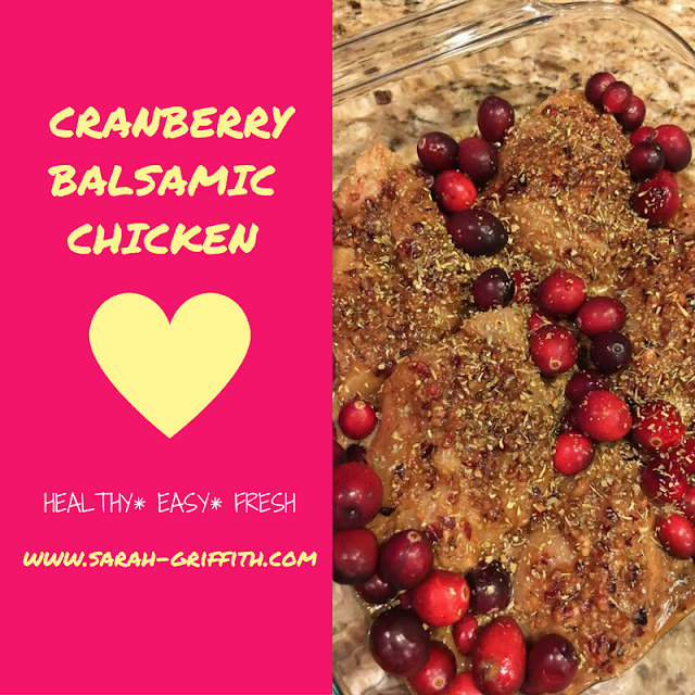 paleo dinner, paleo chicken, cranberry recipes, cranberry chicken, gluten free dinner recipes, sarah griffith, top beachbody coach,