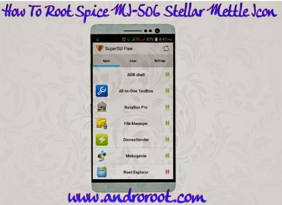 How to root Spice Mi 506 easily www.androroot.com