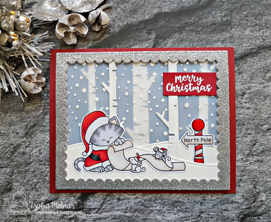 Merry Christmas by Zsofia features Santa Paws Newton and Snow Globe Scenes by Newton's Nook Designs; #newtonsnook