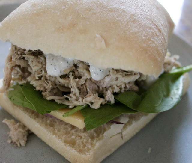 Greek Chicken Ciabatta Sandwiches with Tzatziki Sauce