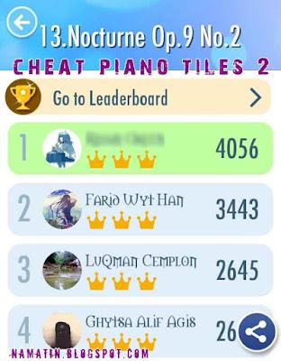 Cheat Piano Tiles 2 Semua Lagu Terbuka