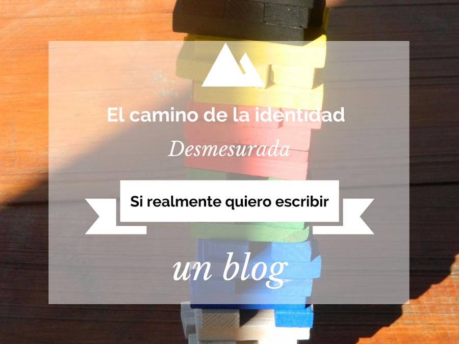 Si realmente quiero escribir un blog.