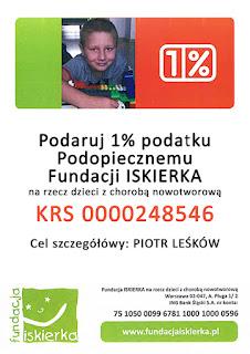 Prosimy przekaż 1% dla Piotrka