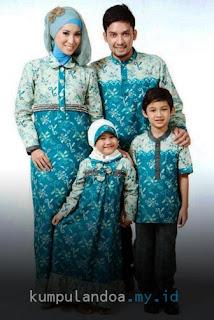 Gambar Model Baju Keluarga Seragam Lebaran Tahun 2017
