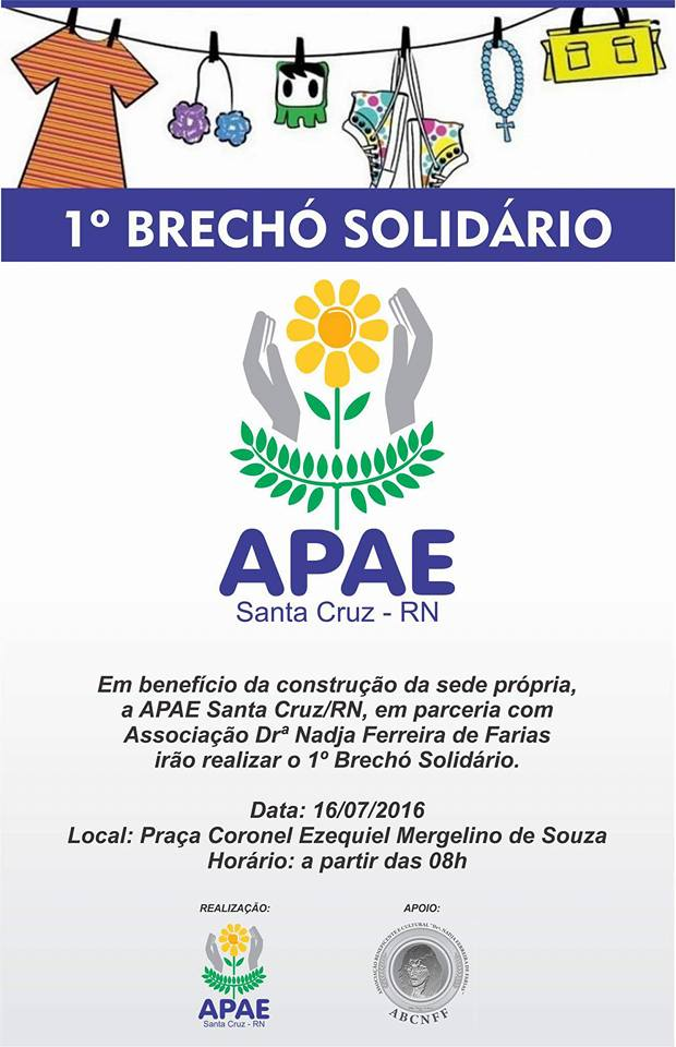 b5d9df420cd APAE SANTA CRUZ REALIZA BRECHÓ SOLIDÁRIO - BLOG DO ERIVAN JUSTINO