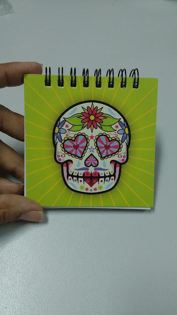 Meus Recebidos da Loja Geek10 bloco de anotações dia dos mortos