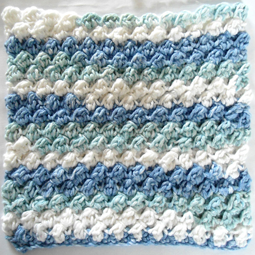 Berry Bushes Crochet Dishcloth - Free Pattern
