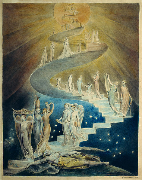 "William Blake, ""La escalera de Jacob"""