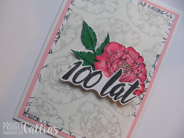 Kartka '100 lat' dla Agateria Craft
