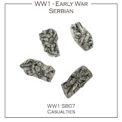 WW1-SB07 Serbian Casualties - (32 Figures + Bases)