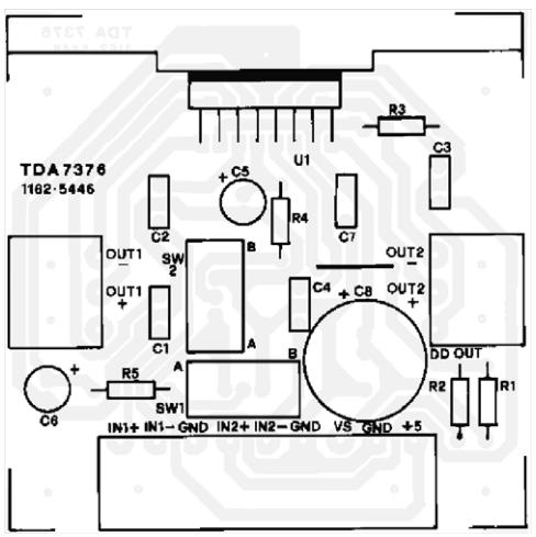 Forum Diagram: 2 x 25 W Power amplifier for car radio TDA7376B