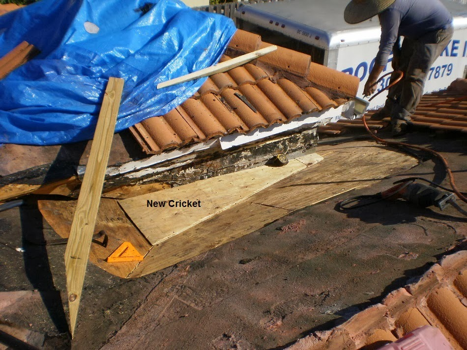 Crickets Are Water Diverters Commonly Found Behind Chimneys Or, As In This  Case, Structures Designed To Transfer Water From One Roof Area To Another.