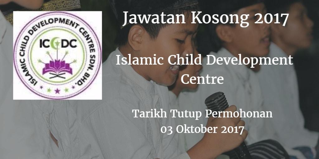 Jawatan Kosong Islamic Child Development Centre 27 Ogos 2017
