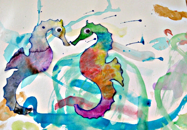 Guided Art for Preschoolers: Mr Seahorse