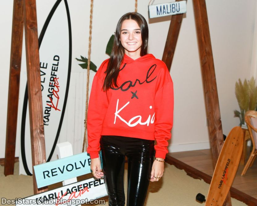 American Singer Charlotte Lawrence Pictures at Karl Lagerfeld x Revolve Launch