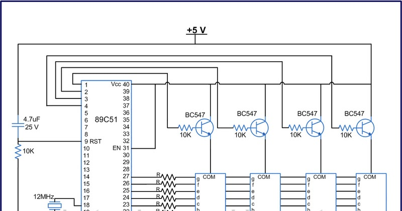 digital clock circuit with t89c51 microcontroller ~ electronictheoryLamp Flasher Using Lm395 #15