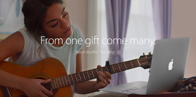 Apple: The Song, spot publicitario Navidad 2014