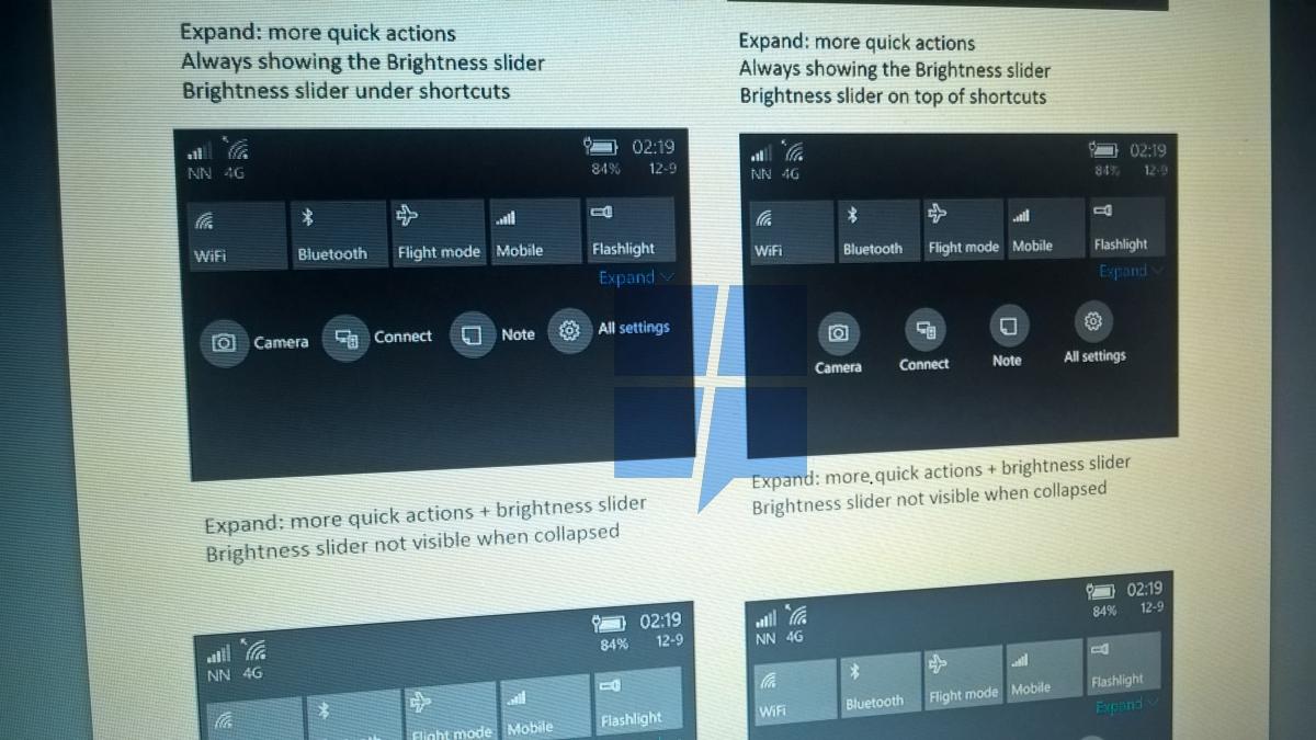Microsoft ridisegna il Centro Operativo di Windows 10 Mobile 3
