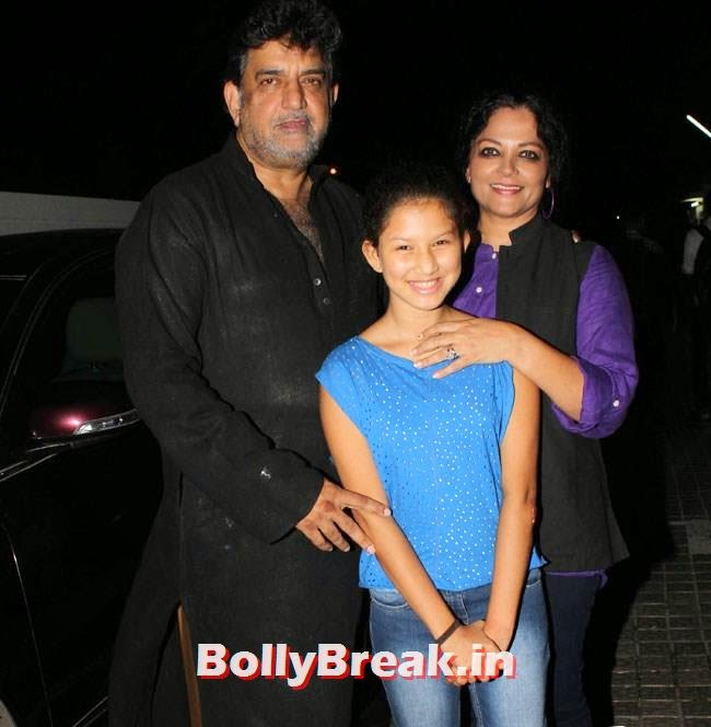 Baba Azmi and Tanvi Azmi, Vidya Balan, Dia Mirza at Special Screening of Bobby Jasoos