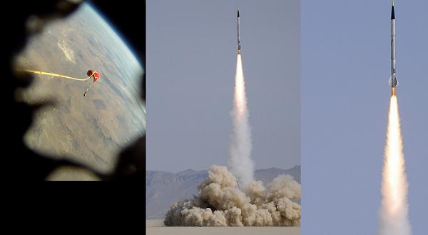 Φοβερό βίντεο!!!! ερασιτεχνικός  πύραυλος  με κάμερα  φτάνει σχεδόν στο διάσημα!