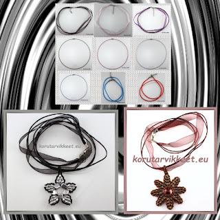 Valmiit nauhat ja metalliketjut v- korunosat, korutarvikkeet - helmikauppa netissä