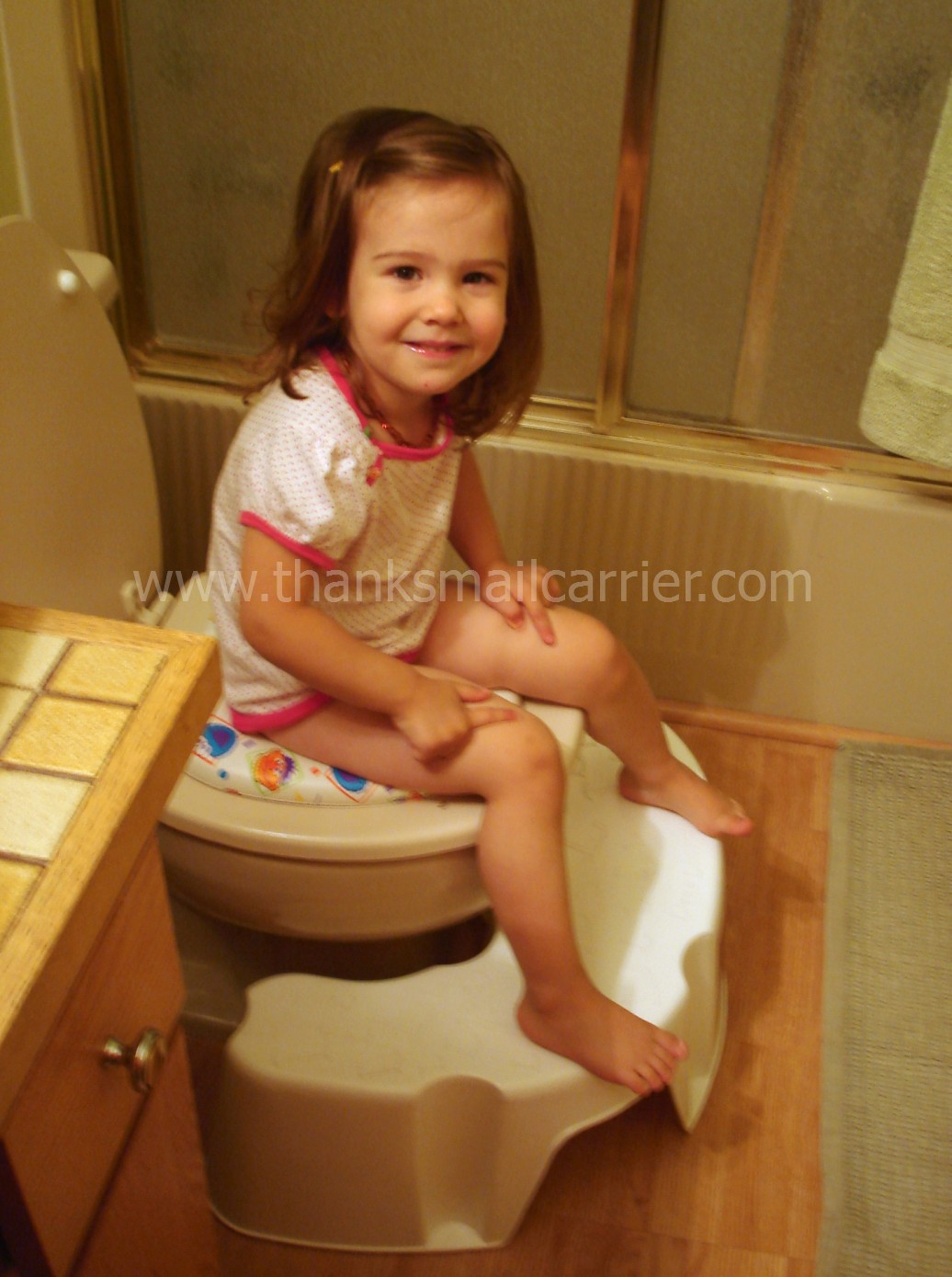 Wooden Potty Chair With White Tray Night Time Potty
