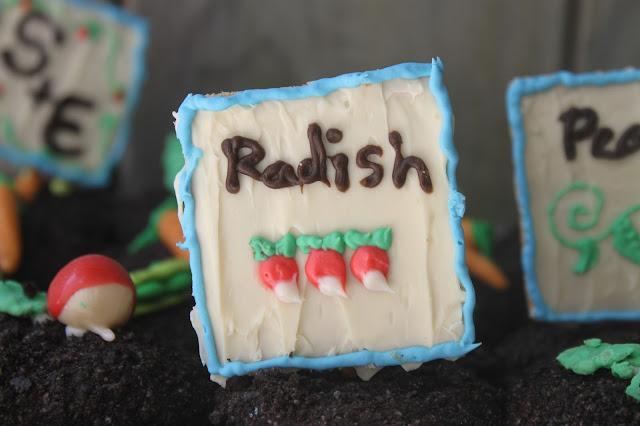 Graham Cracker Radish Seed Sign Hello Cupcake