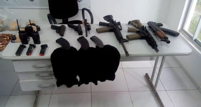 Mais de 700 armas de fogo foram apreendidas em 2016