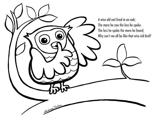 Owl Coloring Pages Free Printables  Wise Old Owl Coloring Page This Is  Funny And