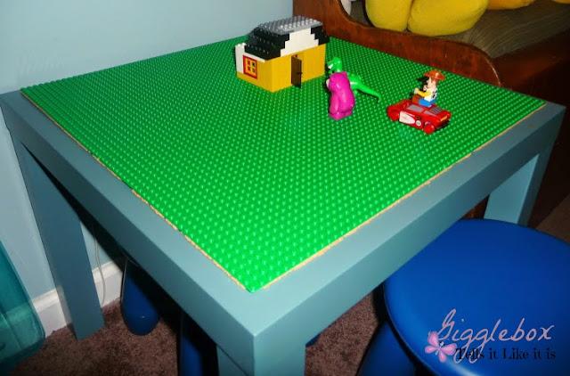 DIY LEGO table, DIY kids toys, LEGO table, LEGO table with removable LEGO plates,