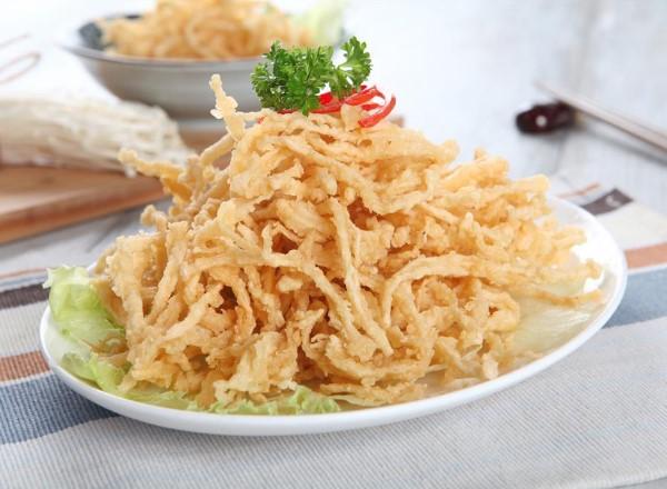 resep jamur enoki goreng tepung, cara membuat jamur enoki goreng tepung