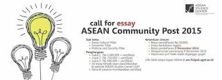 Lomba Esai 2016 dari ASEAN Studies Center Universitas Gadjah Mada