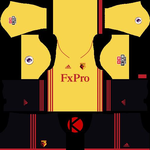 3e4220d4e Watford F.C. Kits 2017 2018 - Dream League Soccer - Kuchalana