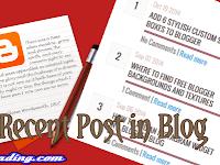 Cara Mudah Membuat Recent Post Ringan dan Responsive di Blog