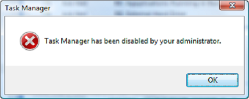 Task Manager disabled by administrator