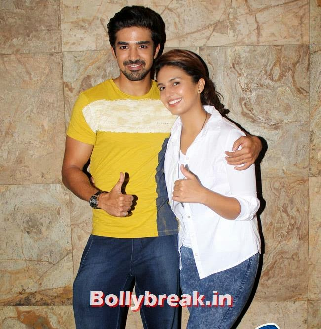 Saqib Saleem and Huma Qureshi, Huma Qureshi & Others at Hawaa Hawaai Special Screening at Lightbox
