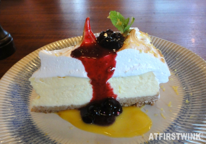 Jamie's Italian Markthal Amalfi Lemon meringue cheesecake side