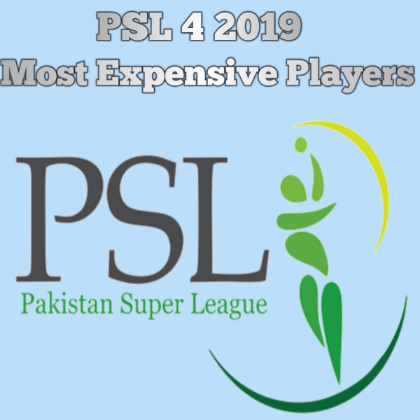 HBL PSL 4 | 2019 | Most Expensive Players