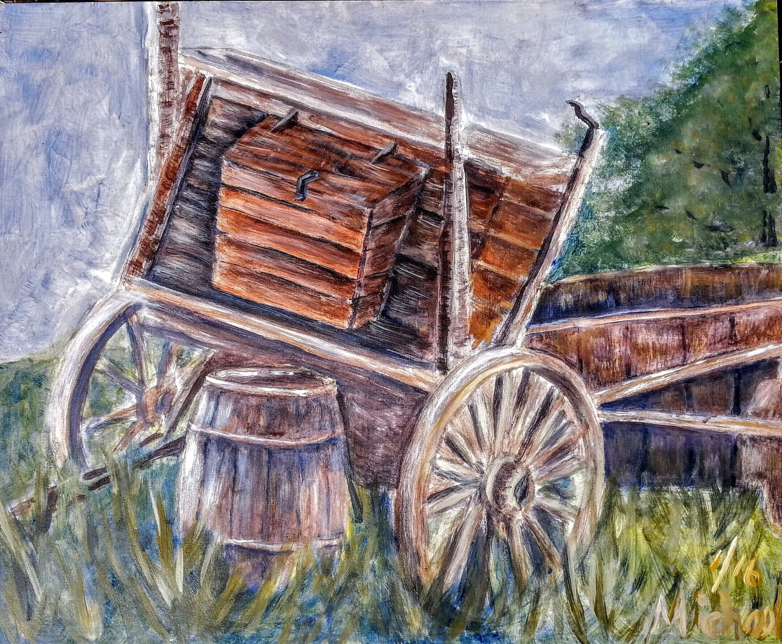 Michael arnold art studies in style for Things to do with old wagon wheels