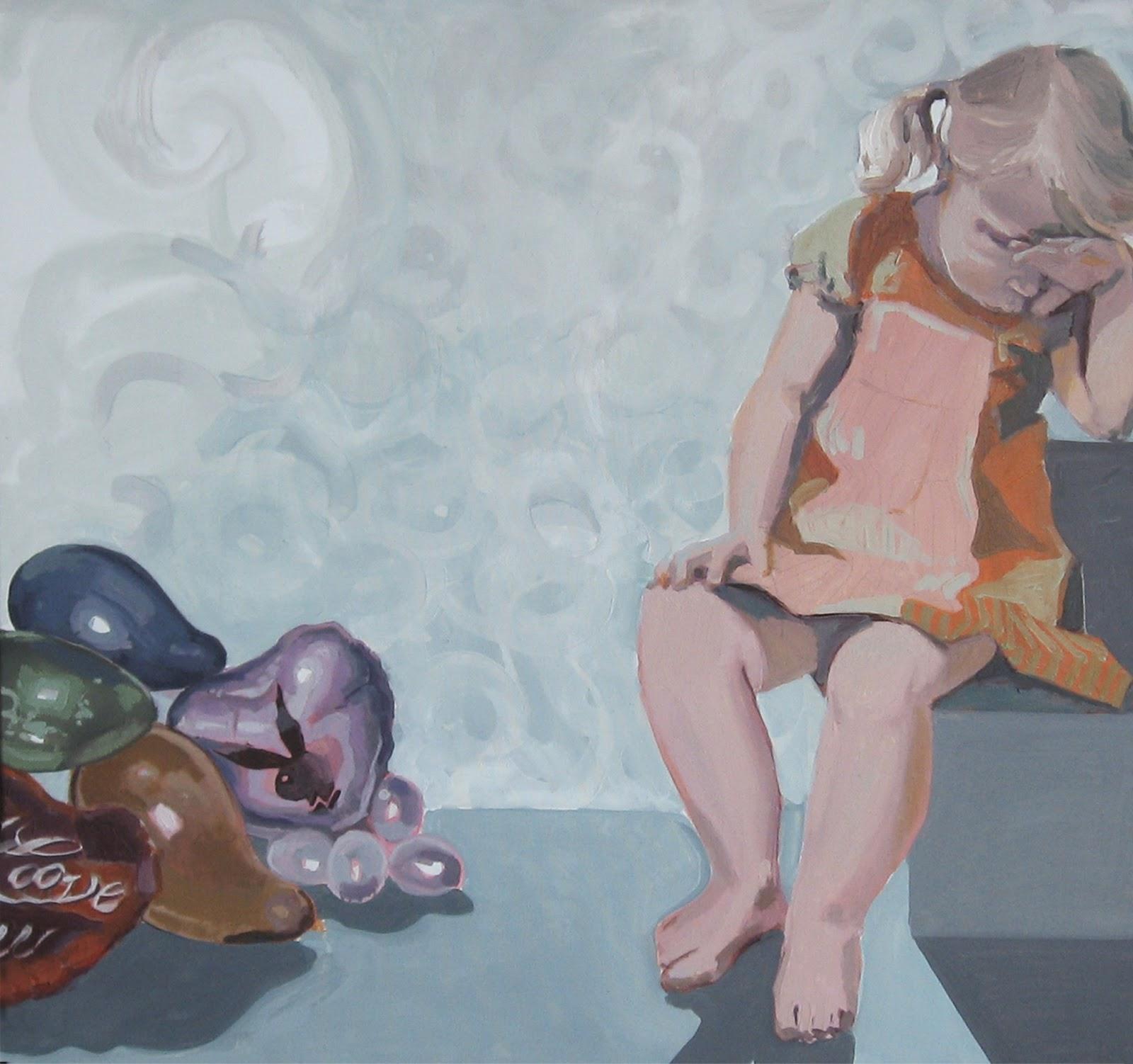 malarstwo olejne Urbaniak Katarzyna dzieci dziewczynki małe desa unicum licytacja warszawa