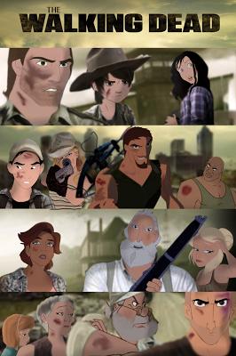 The Walking Dead in salsa Disney (by Mirandaareli)