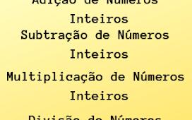 Operações Números inteiros